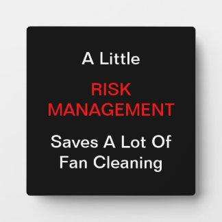 """Placas """"de una pequeña gestión de riesgos"""""""