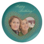 Placas decorativas del marco de la foto del corazó platos para fiestas