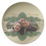 Placas decorativas elegantes de la foto para el an plato