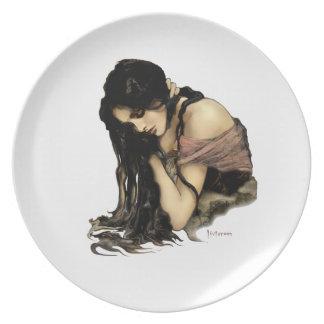 """Placas del arte de la """"reflexión"""" plato"""