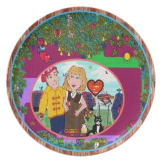 Placas del ~ del trabajo de amor (Collectt ellos t Platos