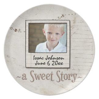 placas del día de la adopción platos