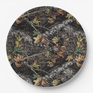 Placas del fiesta del camuflaje de Camo de la caza Platos De Papel