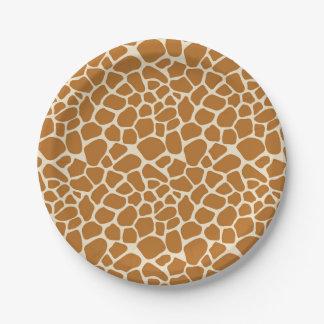 Placas del fiesta del papel de los puntos de la plato de papel de 7 pulgadas