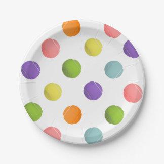 placas del fiesta del tenis plato de papel de 7 pulgadas