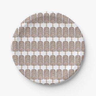 Placas del helado de los Popsicles del Eclair de Plato De Papel De 7 Pulgadas