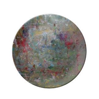 Placas del jardín plato de cerámica