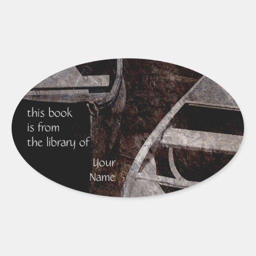 Placas del pegatina de la biblioteca de los barcos