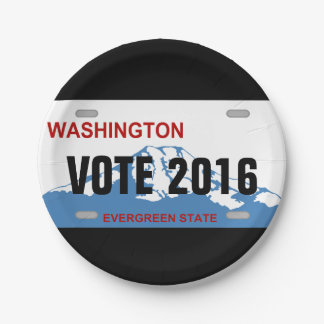Placas del personalizado de Washington Platos De Papel