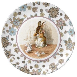 Placas del regalo de Pascua del conejito del Platos De Cerámica