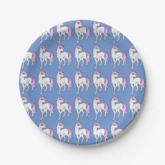 Placas del unicornio platos de papel