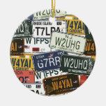 Placas del vintage ornamentos de reyes magos