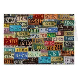 Placas del vintage tarjeta de felicitación