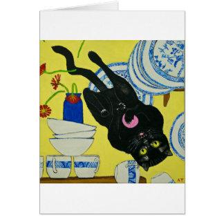 Placas en peligro tarjeta de felicitación