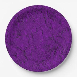 Placas esculpidas del fiesta del Púrpura-Papel de Platos De Papel