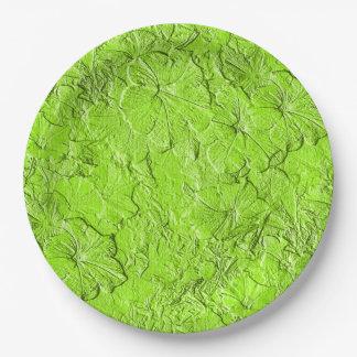 Placas esculpidas del fiesta del Verde-Papel de la Platos De Papel