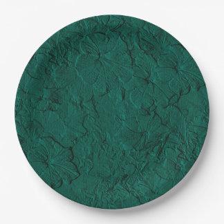 Placas esculpidas del fiesta del Verde-Papel del Platos De Papel