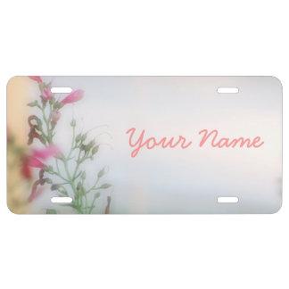 Placas florales modificadas para requisitos partic placa de matrícula