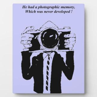Placas fotográficas de una foto de la memoria