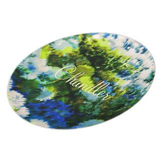 Placas frescas de la melamina del jardín florecien plato para fiesta