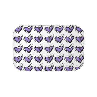 Placas frontales púrpuras/verdes de la caja del