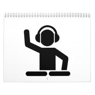 Placas giratorias de DJ Calendario