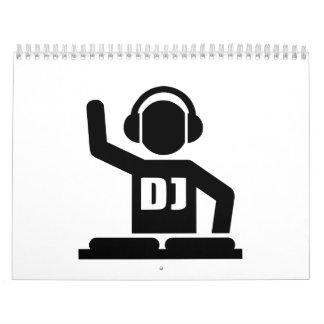 Placas giratorias de DJ Calendarios