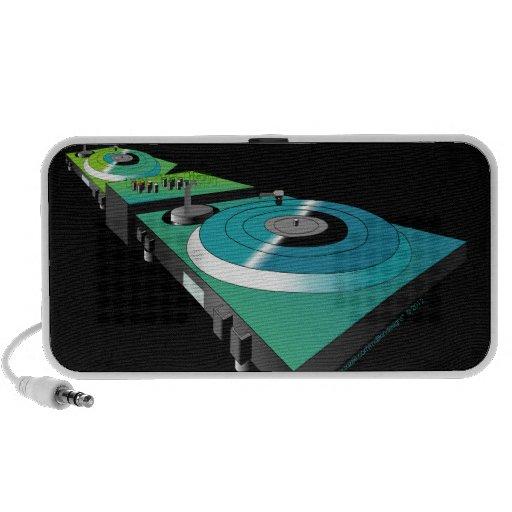 Placas giratorias de DJ por los diseños de MDillon iPod Altavoz