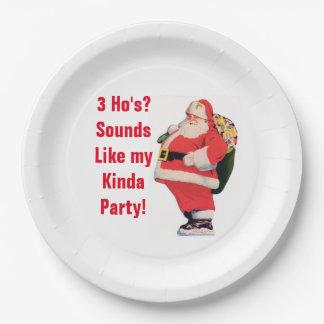 Placas groseras del navidad platos de papel