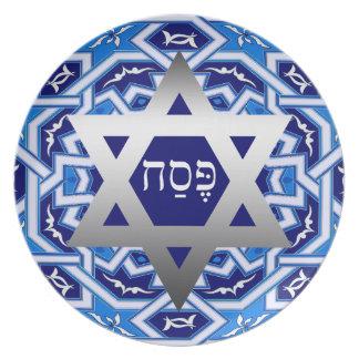 Placas hebreas de Seder del regalo del Passover de Plato Para Fiesta