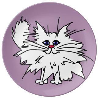 Placas ingeniosas de la porcelana del gatito platos de cerámica
