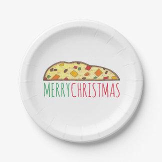 Placas italianas de Biscotti del Fruitcake de las Platos De Papel