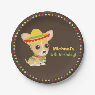 Placas mexicanas de la fiesta de cumpleaños de la platos de papel
