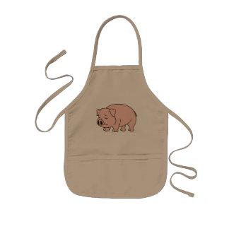 Placas nacionales gritadoras del día del cerdo del delantales