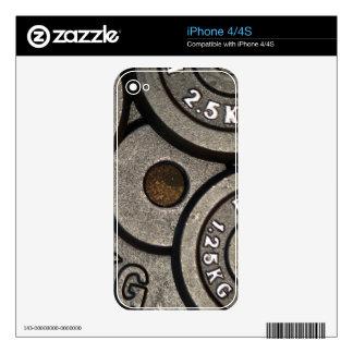 Placas negras del peso - impresión del iPhone 4S skin