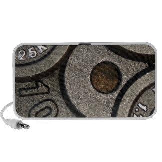 Placas negras del peso - impresión del mini altavoces