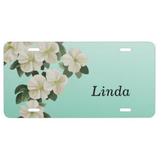 Placas personalizadas de la flor placa de matrícula