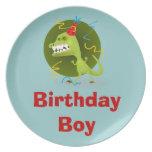 Placas personalizadas de la melamina del muchacho  platos para fiestas