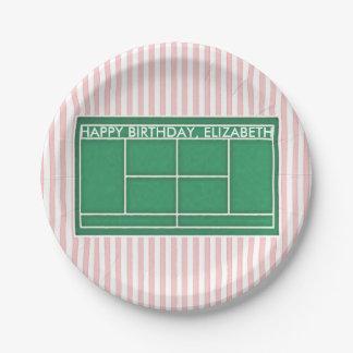 placas personalizadas de la torta de cumpleaños platos de papel