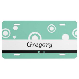 Placas personalizadas del círculo placa de matrícula