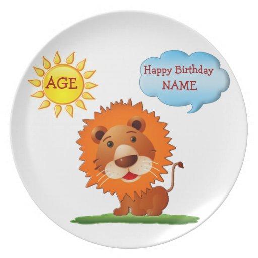 Placas personalizadas del cumpleaños para los niño plato