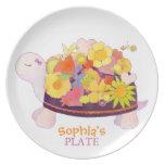 Placas personalizadas tortuga del regalo del plato