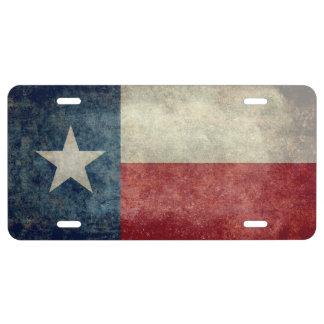 Placas retras del vintage de la bandera del estado placa de matrícula