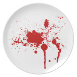 Placas sangrientas platos para fiestas