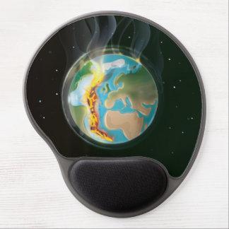 Placas tectónicas de la tierra del planeta alfombrillas de raton con gel