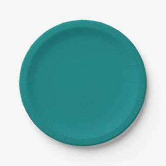 Placas verdes del trullo plato de papel de 7 pulgadas