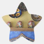 Placas y cerámica mexicanas de la cocina colcomanias forma de estrellaes personalizadas