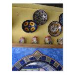 Placas y cerámica mexicanas de la cocina postales