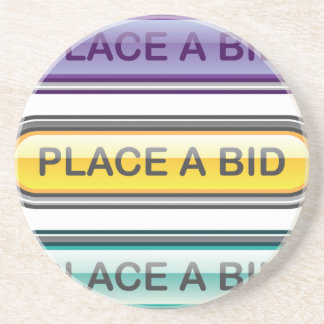 Place a Bid button web Coaster
