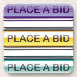 Place a Bid button web Coaster